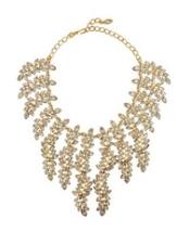22-karat gold-plated Swarovski crystal necklace