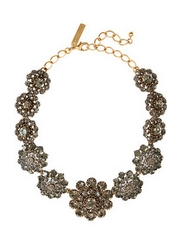 24-karat gold-plated crystal necklace