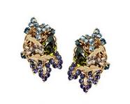 24-karat gold-plated Swarovski crystal clip earrings
