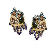 24-karat gold-plated Swarovski crystal clip earrings