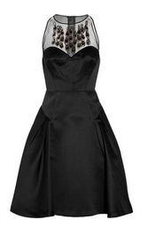 Aviana embellished sateen dress