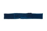 Bow-front velvet belt