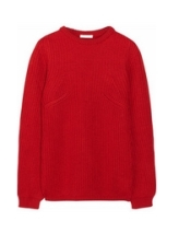 Chunky-knit merino wool sweater