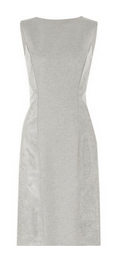 Coated wool-blend dress