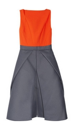 Color-block woven dress