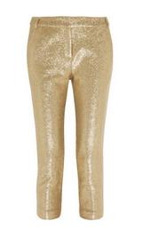 Cotton brocade pants