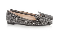Embellished suede loafers