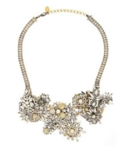 Gold-plated Swarovski crystal and pearl necklace