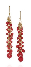 Grappolo 24-karat gold-dipped agate earrings
