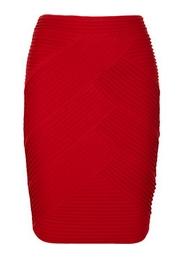 Paneled ponte skirt