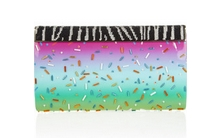 Rob Pruitt Cayla embellished patent-leather clutch