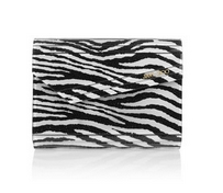 Rob Pruitt The Candy glittered zebra-print acrylic clutch