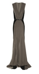 Ruched velvet gown