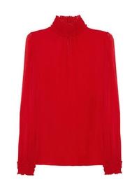 Silk-georgette blouse