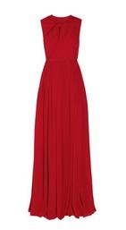 Silk-georgette gown
