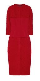 Wool-blend tweed coat dress