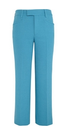 Wool-crepe straight-leg pants